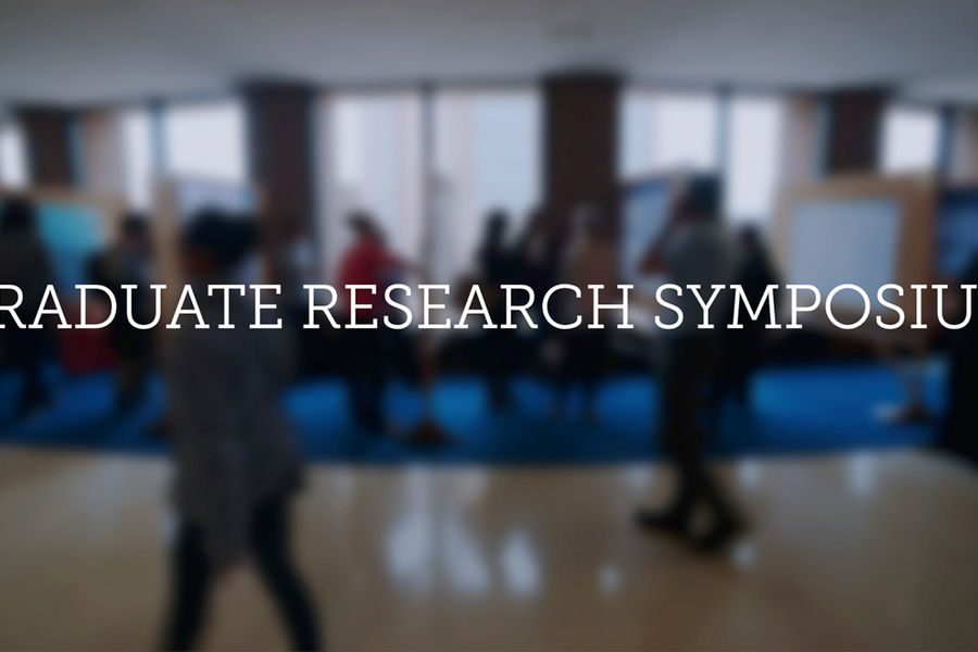 Graduate Research Symposium Video for the week of April 13, 2015.