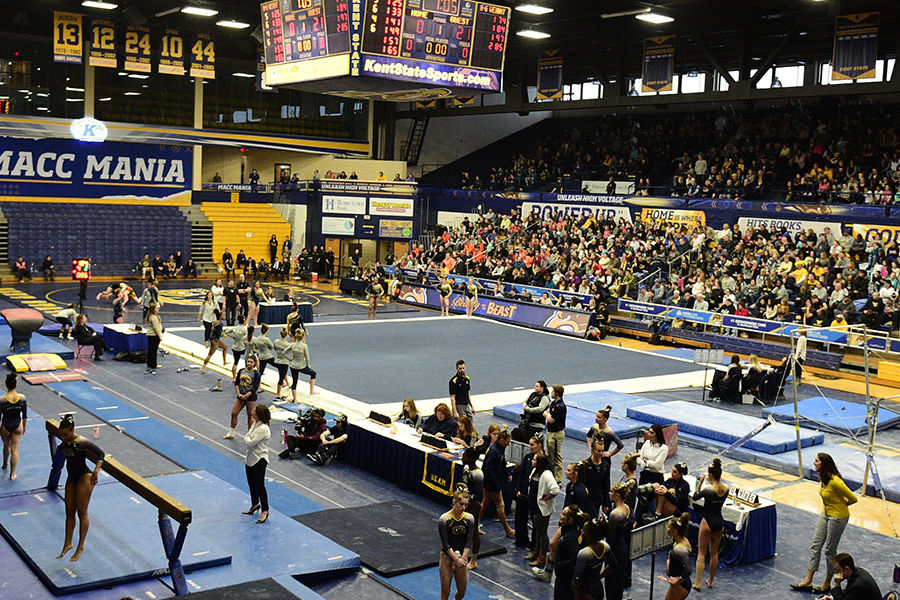 MACC set up for gymnastics competition