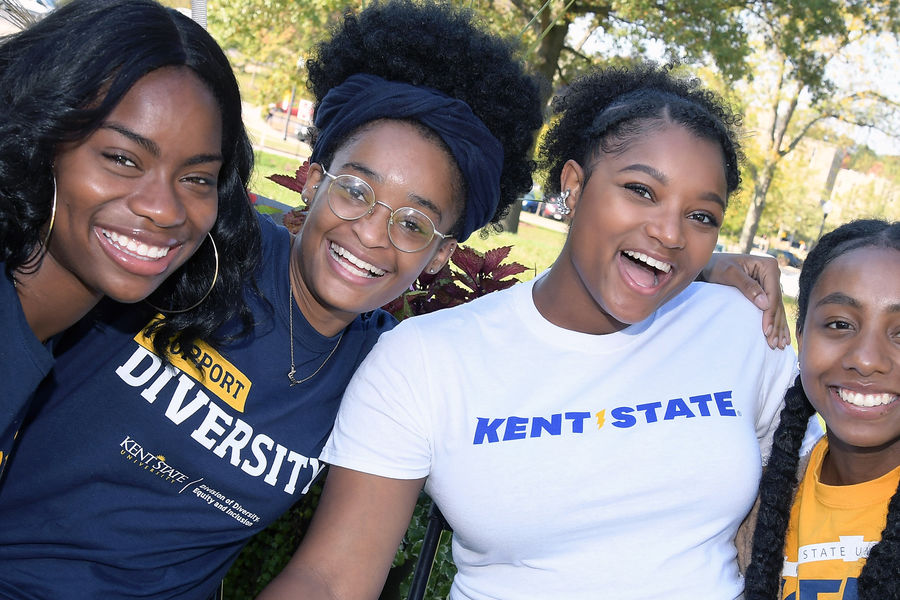 Kent State students enjoy the second annual DiversiFest, a festival that celebrates Kent State