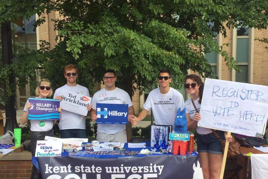 PR student Hana Barkowitz (far left) was recently named the national director of communications for the College Democrats of America.
