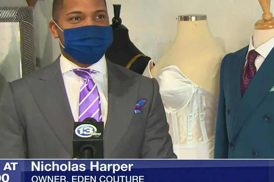 Screenshot of Nicholas Harper from WTVG 13ABC