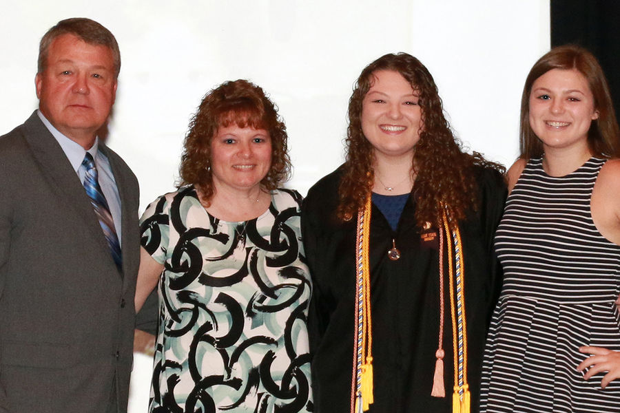 Kent State Ashtabula graduate Katey Paskey (Spring 2017) and her family