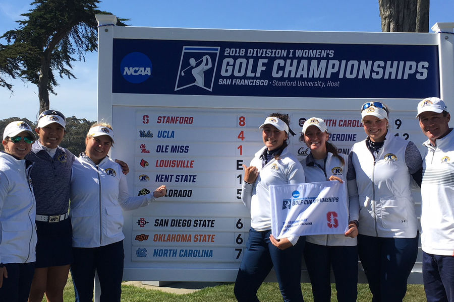 The Kent State women's golf team has qualified for the 2018 NCAA National Championship after finishing the NCAA San Francisco Regional in fifth place at 1-over par 865.