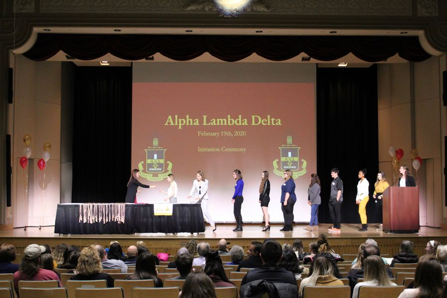 Induction Ceremony procession for Alpha Lambda Delta first-year student members.
