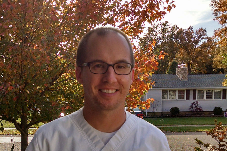 John Wolfe, a part-time senior nursing student at Kent State University at Tuscarawas, was able to make a career change thanks to The Hammerstrom Scholarship Fund.