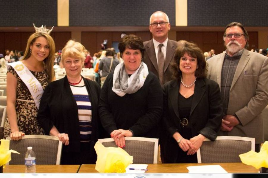 Hyde Park Forum Judges for 2014 were, from left, Heather Wells, Suzanne Theisen, Lori Wemhoff, Stanley Wearden, Marilyn Sessions, and David Trebing.