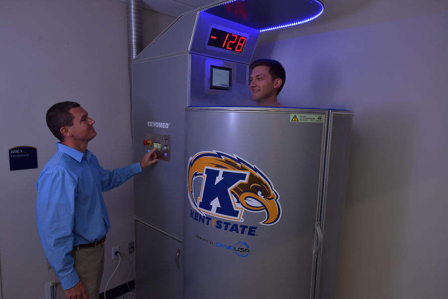 Photo of Kent State University Cryotherapy Chamber.