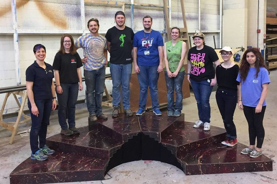 Kent State Scenic Design students design set for Regional Emmy Awards