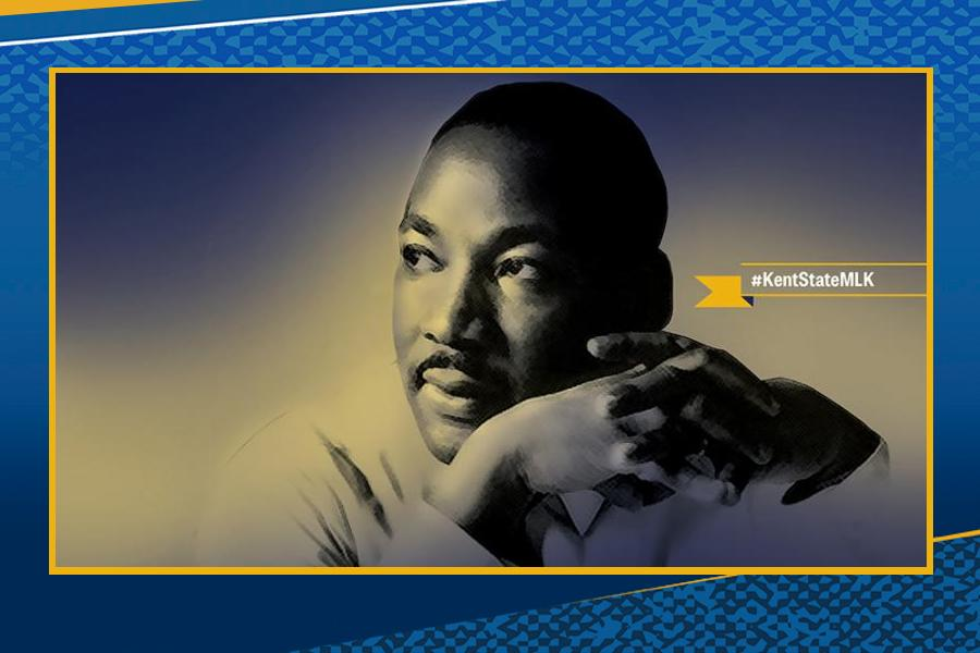 Kent State paused to honor Martin Luther King during a virtual ceremony on Jan. 21, 2021