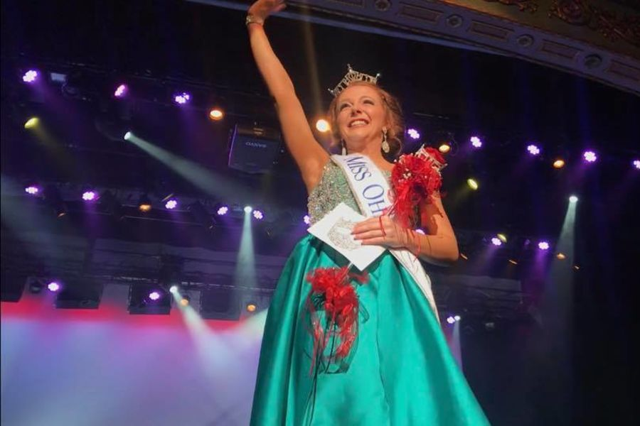 Communication Studies major Matti-Lynn Chrisman celebrates after being crowned Miss Ohio 2018. Photo credit: Matti-Lynn Chrisman