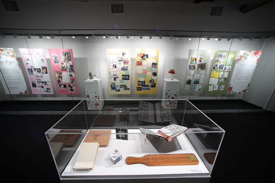"""Sandy's Scrapbook,"" a new exhibition at Kent State University's May 4 Visitors Center, pays tribute to the life of Sandy Scheuer."
