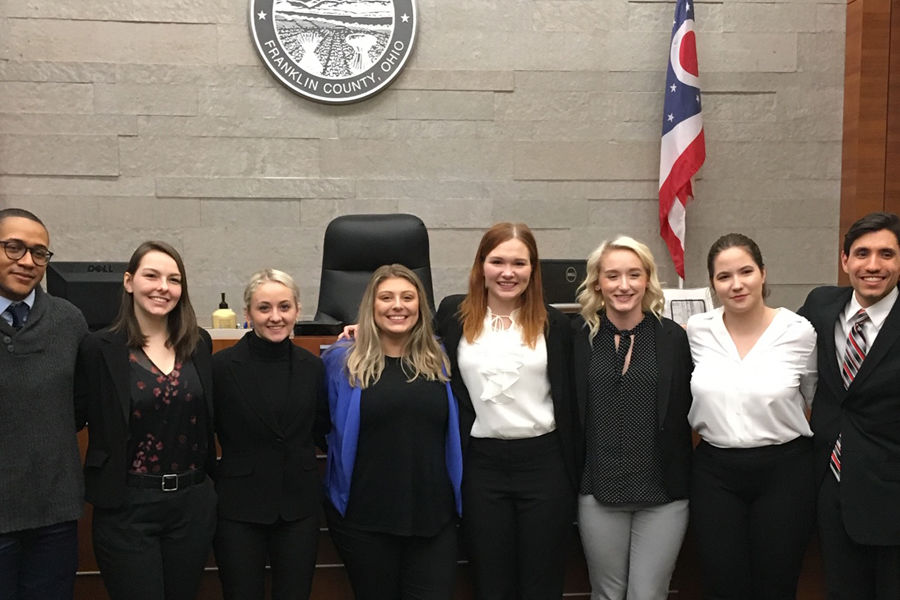 Kent State University's 2019 Mock Trial Team