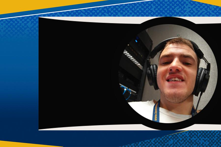 Brandon Lewis, Journalism Major. Image from OOD Works Podcast