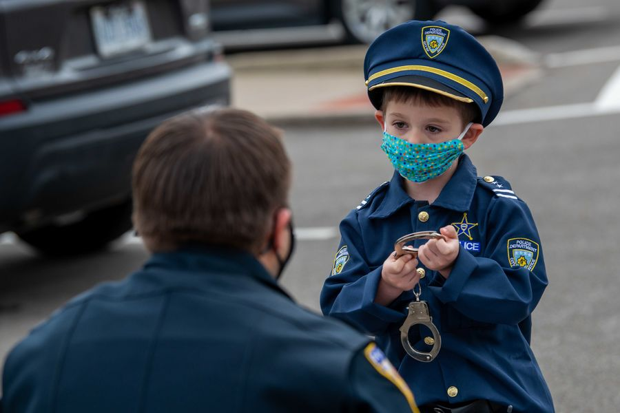 Patrick Tomaswick meets with one of his heroes, Kent State Police Officer Joe Knotek