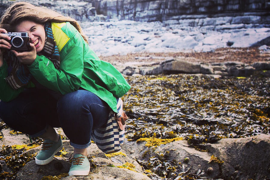 Kent State University student Anna Hoffman, a global communication studies and political science major, traveled to Ireland this summer to study the country's efforts to save its national language. (Photo credit: Alex Ledet)