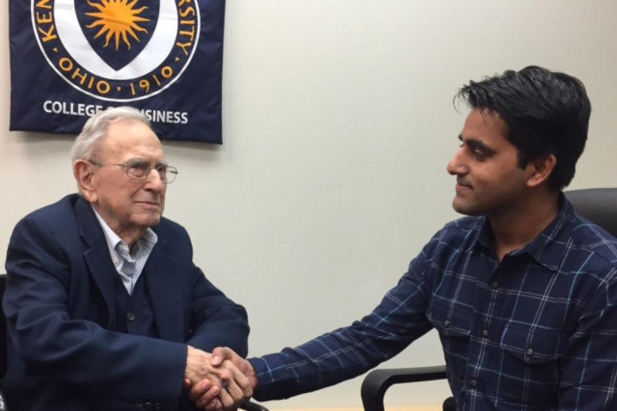 Dr. Heinlein and Laxman Panthi