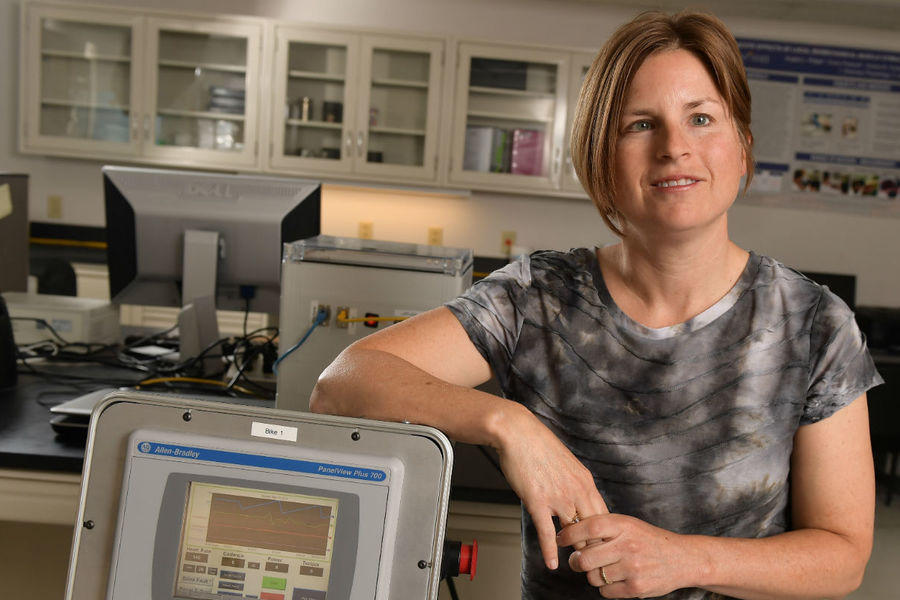 Angela Ridgel, Ph.D., an associate professor of exercise science at Kent State University and an avid cyclist, has designed a bicycle specially tailored to Parkinson's patients.