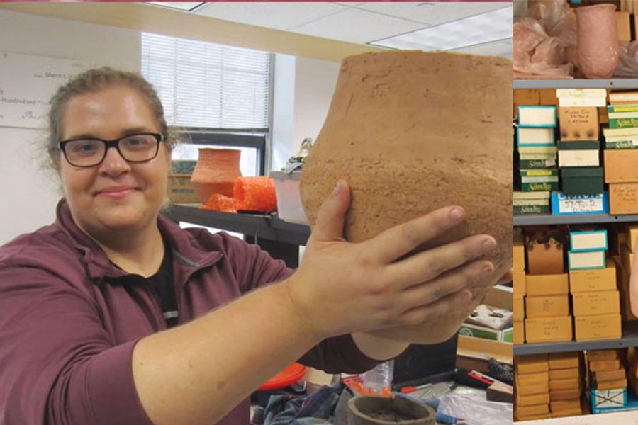 Ashley Rutkoski and Michelle Bebber at Kent State's Eren Lab