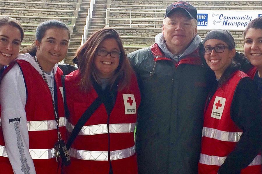 Nurses volunteer in the community