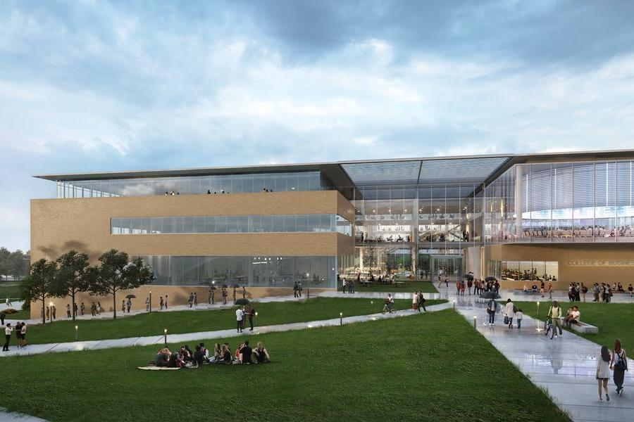 A rendering of the new College of Business Administration