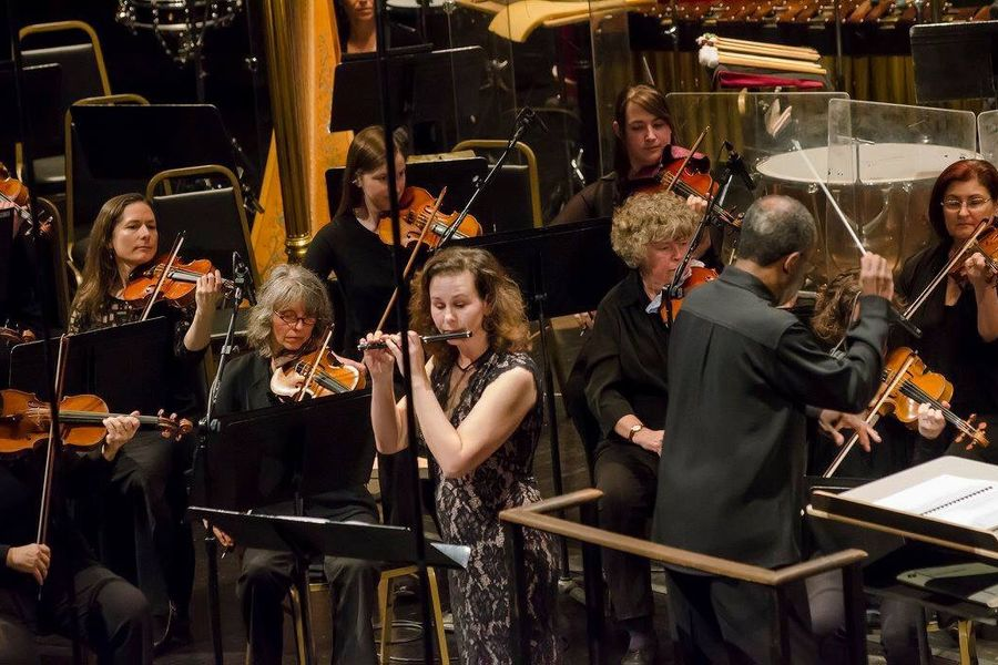 Amy Likar with the Oakland Symphony