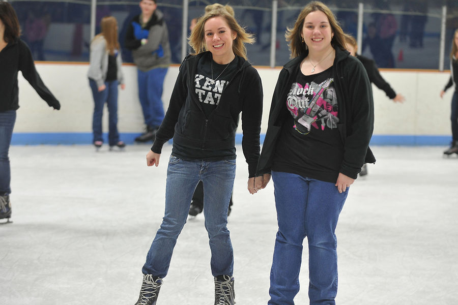 Kent State students enjoy ice skating at the Kent State Ice Arena.