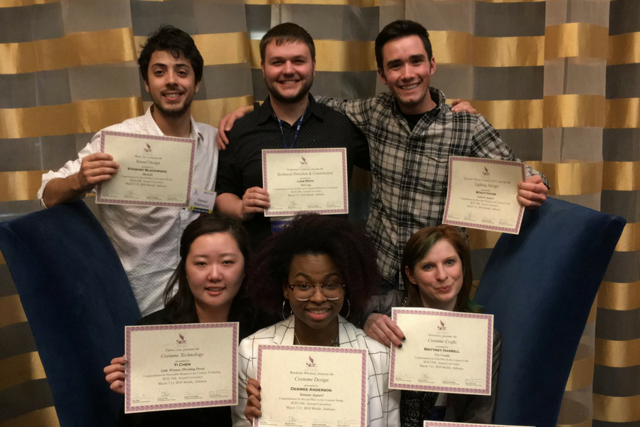 School of Theatre and Dance students take home 8 awards at 2018 SETC Conference