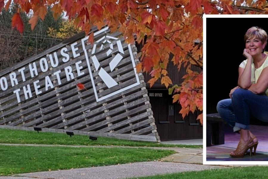 Fall picture from Porthouse and photo of Terri Kent