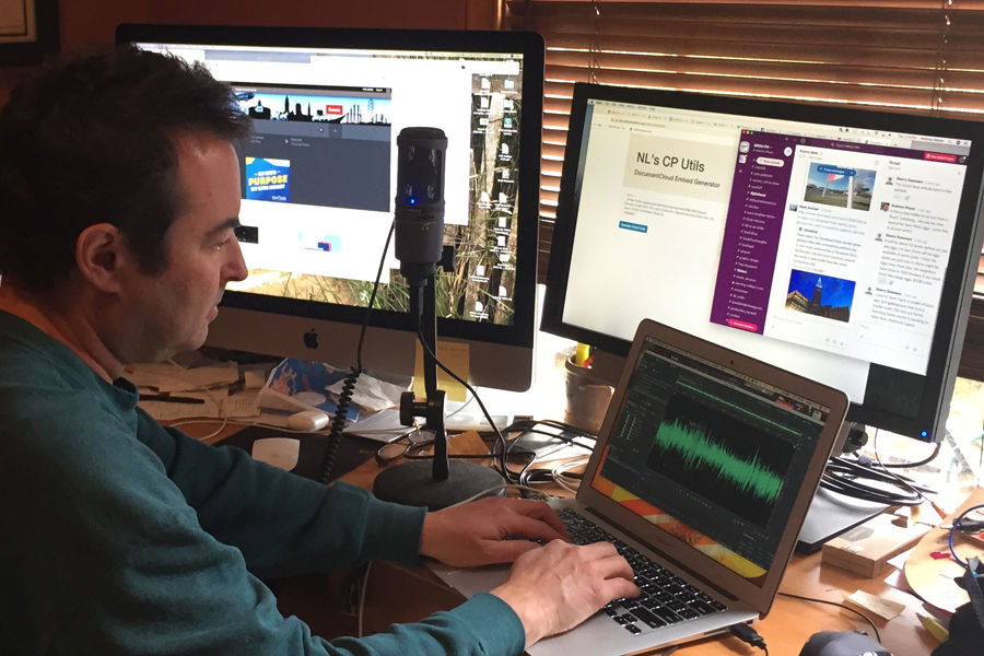 Andrew Meyer in his home office/studio