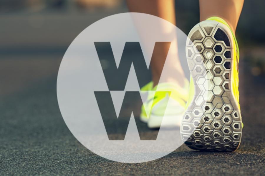 Weight Watchers speed walking logo