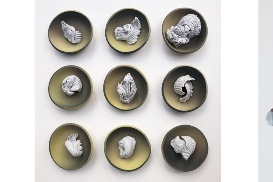 Artworks by Meagan Smith and Chandler Brutscher
