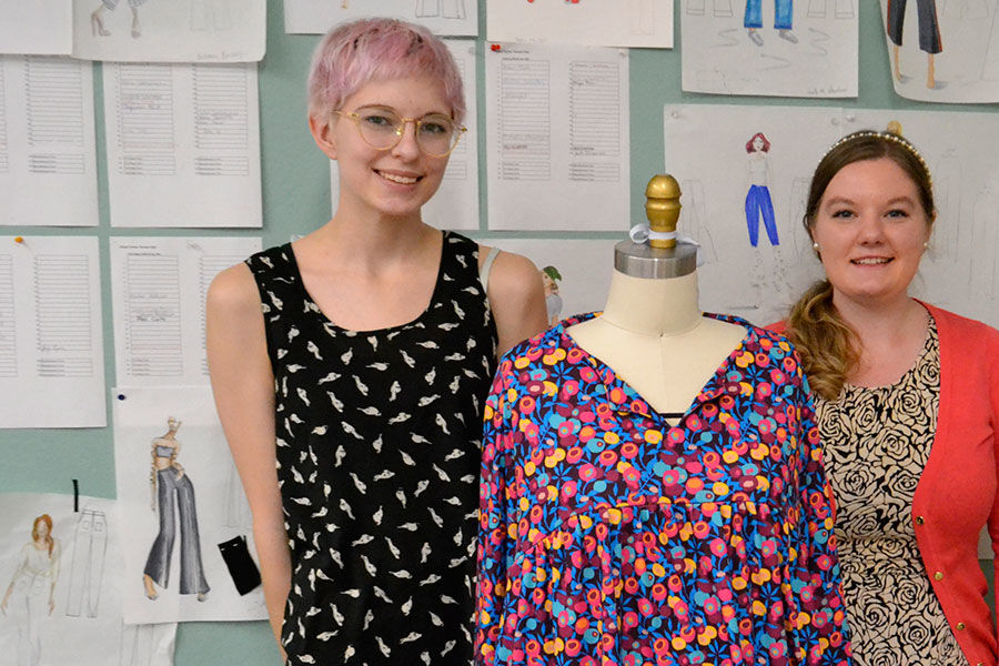 Kent State Fashion design seniors, Sarah Tothero and Breanna Weiss and another classmate have partnered with a faculty member in the College of Nursing to design special garments for older adults.