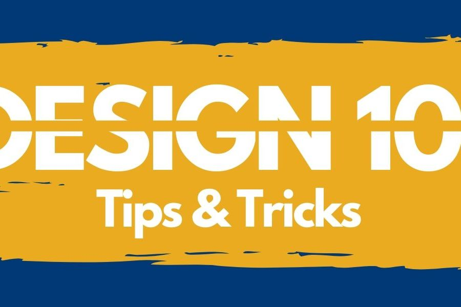 Design 101 graphic: Tips and Tricks