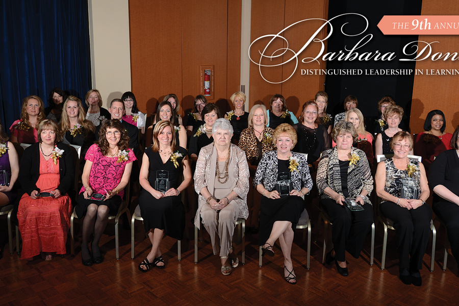 Recipients of the 2013 Barbara Donaho Distinguished Leadership in Learning Award