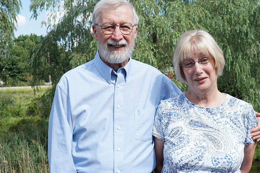 Tom (left) and Sue (right) Freeman