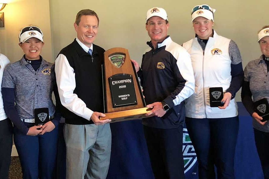 The Kent State women's golf team shot a Mid-American Conference (MAC) Championship record to win its 20th consecutive MAC Women's Golf Championship.