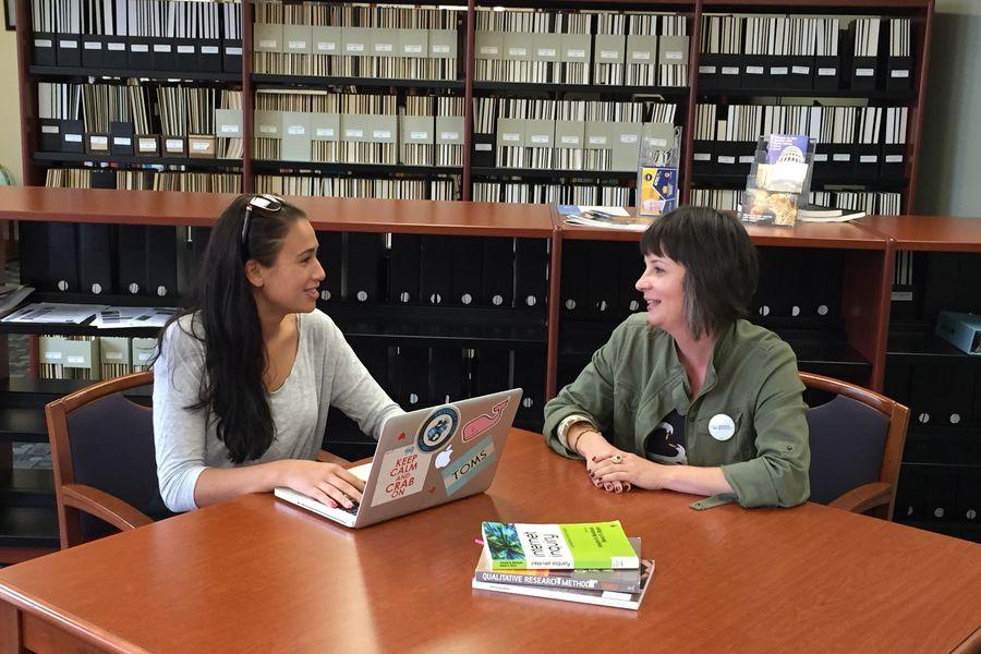 Megan Carrasco (left) and Dr. Suzy D