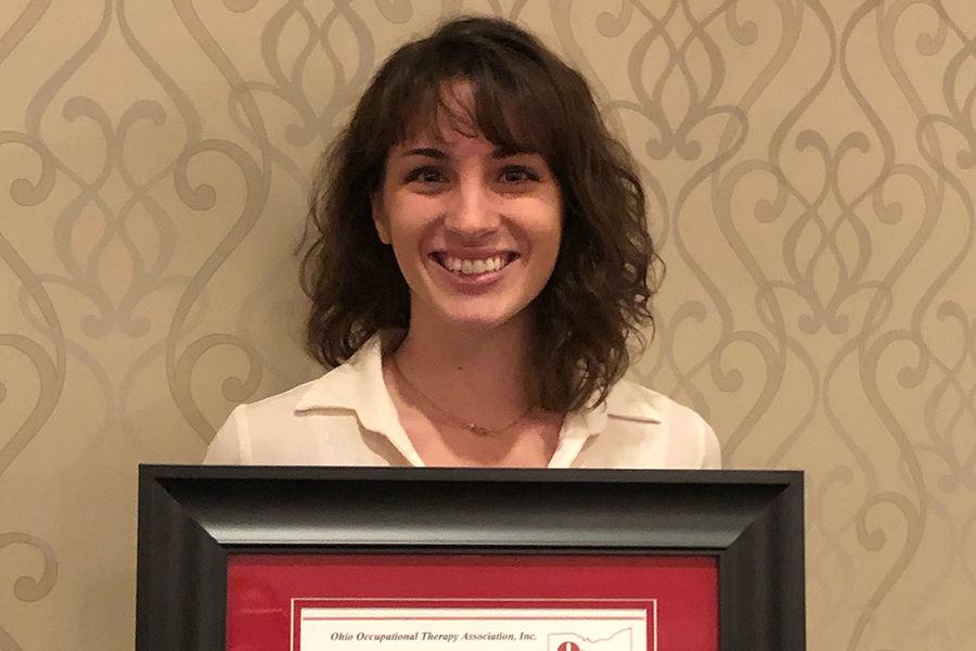 Ashtabula student Lauren Whitten is the 2019 Outstanding OTA Student Award recipient