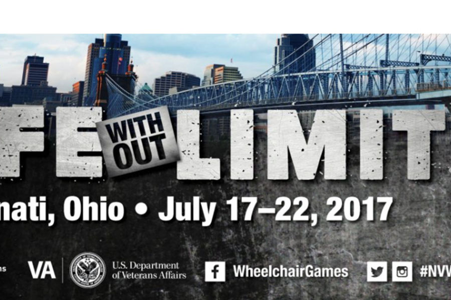 Austin Trzop, from Kent State University at Stark, is competing in the National Veteran Wheelchair Games.