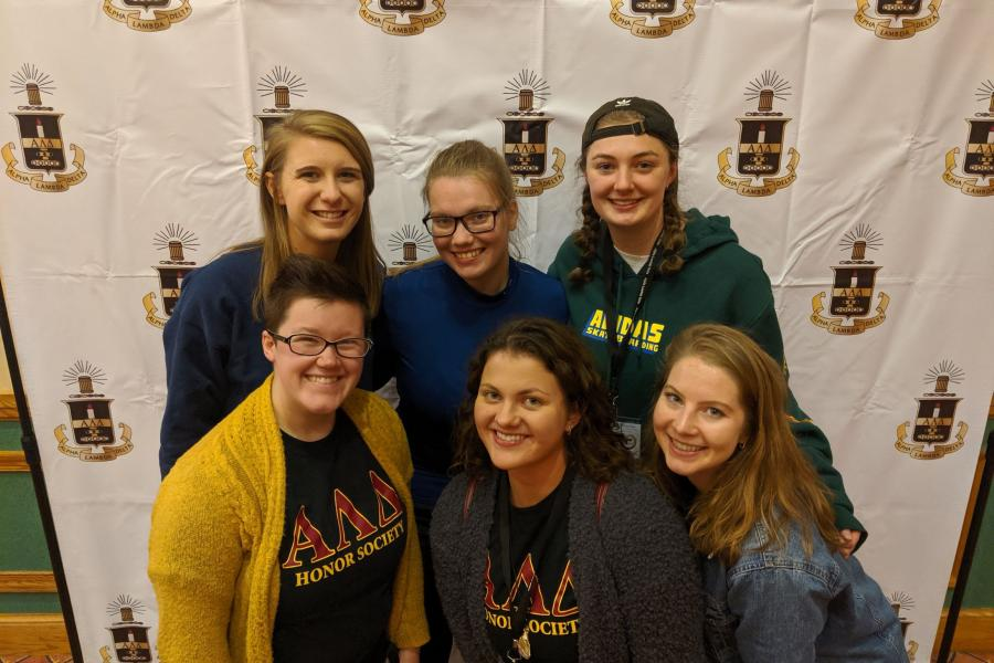 Alpha Lambda Delta officers at the 2019-20 national conference in Niagra Falls.