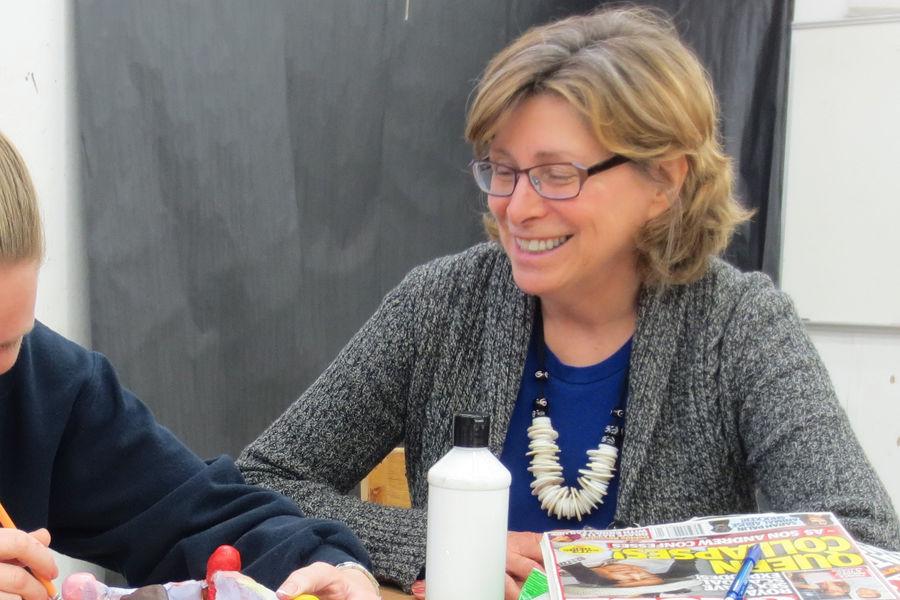 Juliann Dorff in the classroom