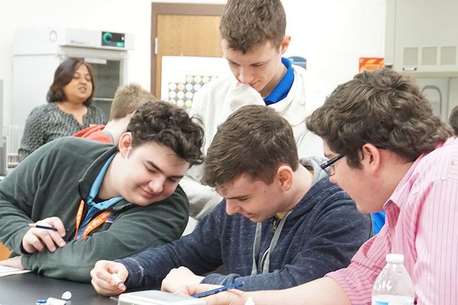 Area middle school students participate in interactive activities at Kent State University at Geauga.