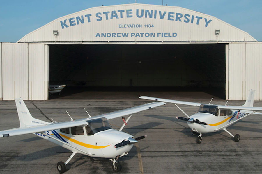 Kent State University Airport is engaged with surrounding communities, including the cities of Kent and Stow.