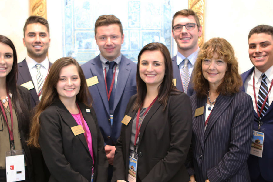 Pictured are members of the Kent State University Sales Management Case Team. The team ranked fourth in the nation at the 2017 International Collegiate Sales Competition in Orlando, Florida.