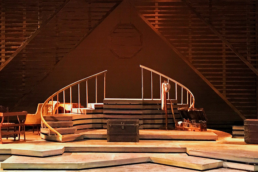 Kent State University graduate scenic design student Patrick Ulrich designed the entire set for Kent State