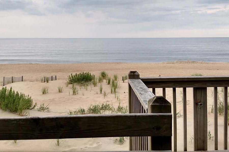 Laure Farnbauch, manager for laboratory resources in the Department of Psychological Sciences, submitted this photo last year of her time at Nags Head, North Carolina, relaxing by the beach.