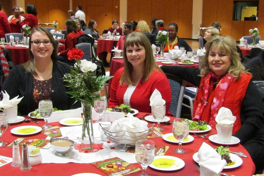 Women from the Kent State University community attend the annual Women