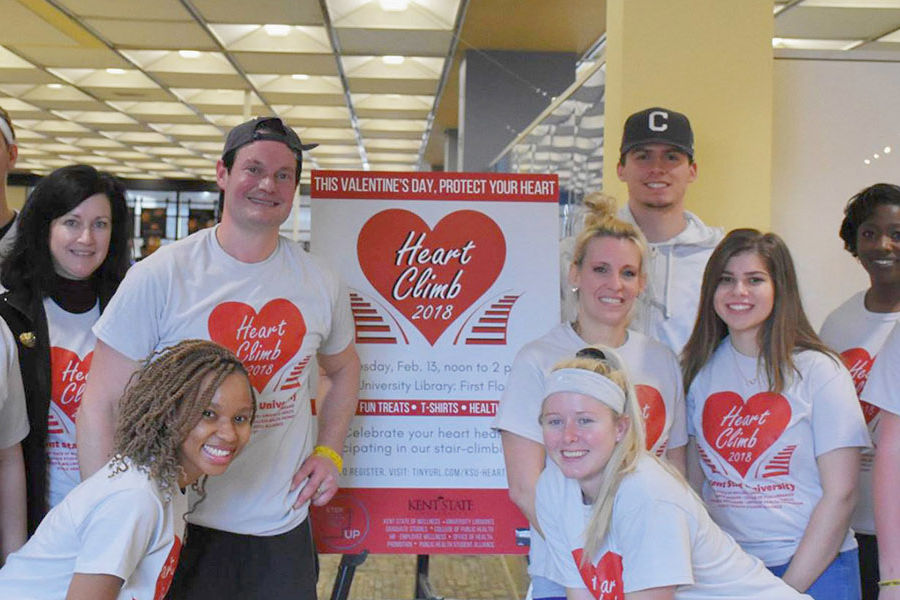 Members of the Kent State community organized the 2018 Heart Climb event, which received funding from Kent State