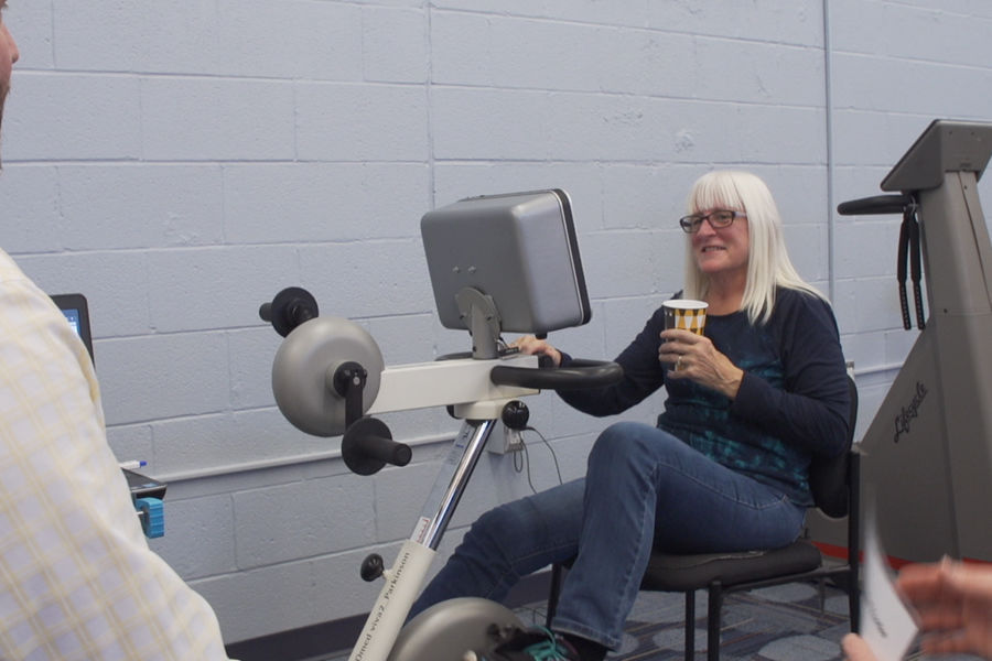 A new motorized bike, developed by a Kent State professor, is being used to treat Parkinson