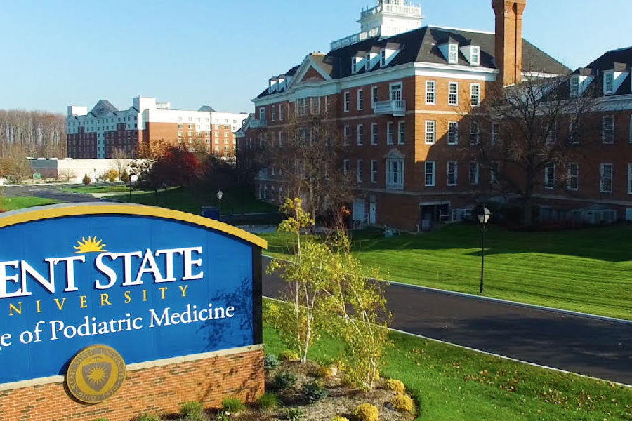 Kent State University's College of Podiatric Medicine is one of nine accredited podiatry colleges in the United States, and is a four-year, graduate-level medical college, granting the degree of Doctor of Podiatric Medicine.